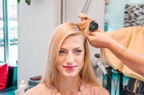 Волосы, разделенные пробором на две части