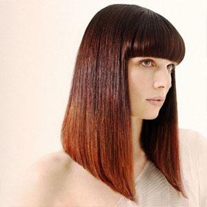 Стрижка боб на длинные волосы с челкой или без